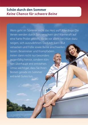<p>Schön durch den Sommer -<br /> Keine Chance für schwere Beine</p>